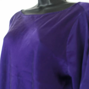 Ralph Lauren Slim Fit Purple Solid Tunic- Women's